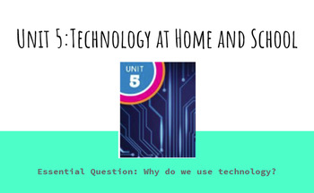 Kindergarten Unit 5 Technology at Home and School