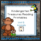 Kindergarten Unit 5 Treasures Reading Printables