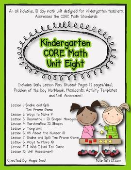 Kindergarten Unit 8 CORE Math