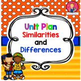 Similarities and Differences Unit Plan for Kindergarten