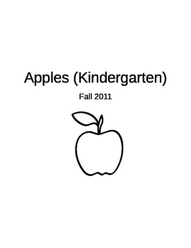 Kindergarten Unit Plan w/ Apples
