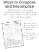 Kindergarten Unit Two Compose and Decompose Numbers