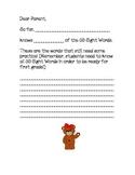 Kindergarten Update Letter to Parents