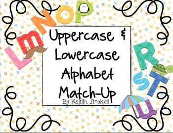 Kindergarten Alphabet Letter and Sound Matching Game!