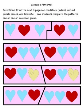 Kindergarten Valentine Common Core math Unit