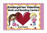Kindergarten Valentine Math and Reading Centers