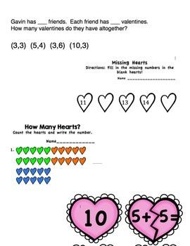 Kindergarten Valentine Math Packet