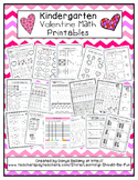 Kindergarten Valentine Math Printables