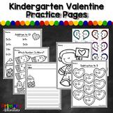 Kindergarten Valentine Practice Pages