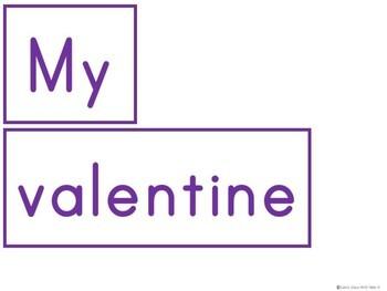 Kindergarten Valentine's Day Literacy Center -  Pocket Chart Center