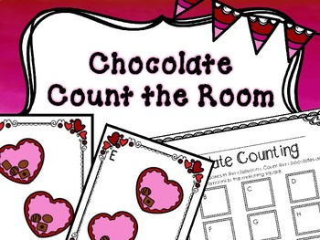 Kindergarten Valentine's Day Math Center - Count the Room