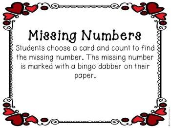 Kindergarten Valentine's Day Math Center - Missing Number Center - Teen Numbers