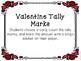 Kindergarten Valentine's Day Math Center - Tally Mark Center