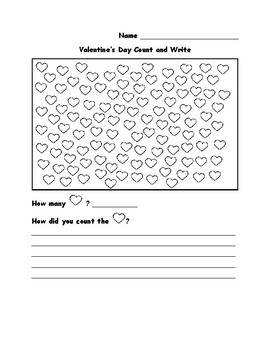 Kindergarten Valentine's Day Math for Common Core