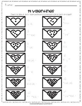 Kindergarten Valentine's Day Worksheet Pack (14 Pages)