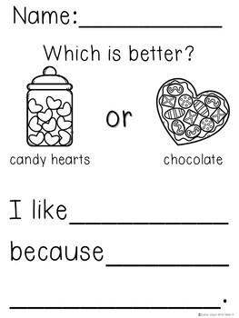 Kindergarten Valentine's Day Writing Activities - No Prep!