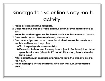 Kindergarten Valentines Addition
