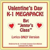 Valentine's Day Kindergarten & 1st Grade MEGAPACK / Lyrics Only