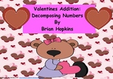Kindergarten Valentines Decomposing Numbers Addition