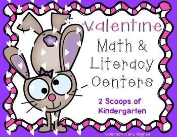 Kindergarten Valentines Literacy & Math Centers