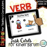 Kindergarten Verb Activity: Digital Task Cards for Kinderg