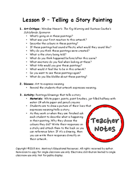 Kindergarten Visual Arts - Lesson 9 Telling a Story Painting