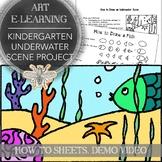 Kindergarten Visual Art Underwater Scene Distance Learning Pack Coronavirus Plan