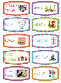 Kindergarten Visual Schedule