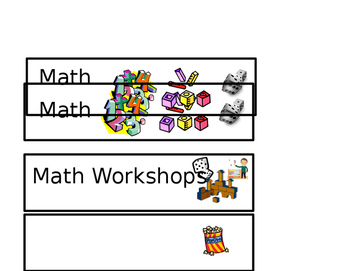 Kindergarten Visual Schedule Signs
