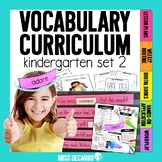 Kindergarten Vocabulary Curriculum Set 2