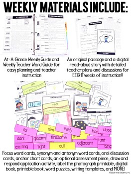 Kindergarten Vocabulary Curriculum Set 4