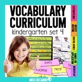 Kindergarten Vocabulary Curriculum Set 4