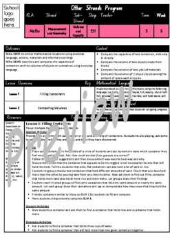 Kindergarten Volume and Capacity Smart Notebook and Unit of Work Bundle 2