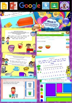 Kindergarten Volume and Capacity Smart Notebook and Unit of Work Bundle 3