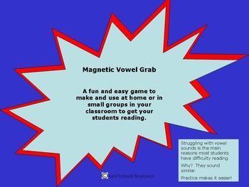 Kindergarten Vowel Grab Activity