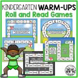 Kindergarten WARM-UPS: Roll and Read Games