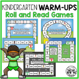 Kindergarten WARM-UPS: Roll and Read Games
