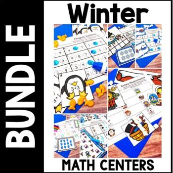 Kindergarten WInter Math Centers - 7 January Feburary Centers