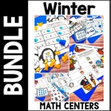 Kindergarten Winter Math Centers - 7 Winter Math Station Bundle - Jan. Feb.
