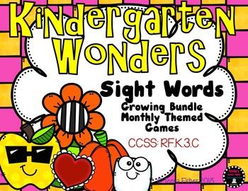 Kindergarten WONDERS Sight Word Growing Bundle