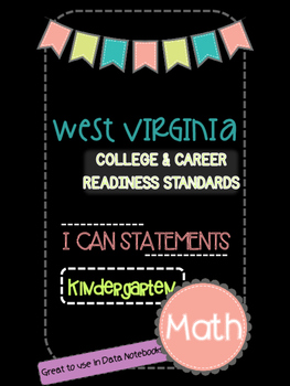 Kindergarten WV College and Career Readiness I can Stateme