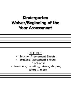 photo regarding Kindergarten Readiness Test Free Printable referred to as Kindergarten Readiness Investigation Worksheets TpT