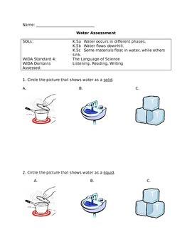 Kindergarten Water Assessment