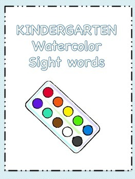 Kindergarten Watercolor Sight Words