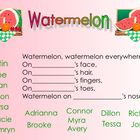 Kindergarten Watermelon Fun