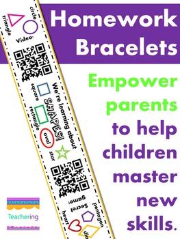 Kindergarten Homework BUNDLE (164+ daily QR code bracelets)