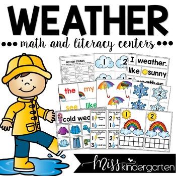 Kindergarten Weather Activities and Centers