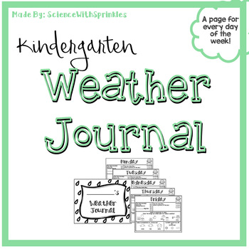 Kindergarten Weather Journal