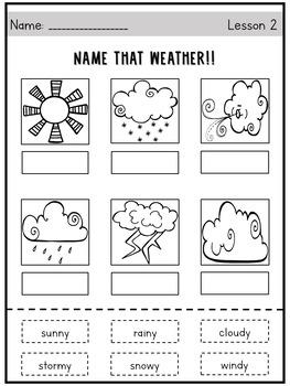 Kindergarten Weather Unit