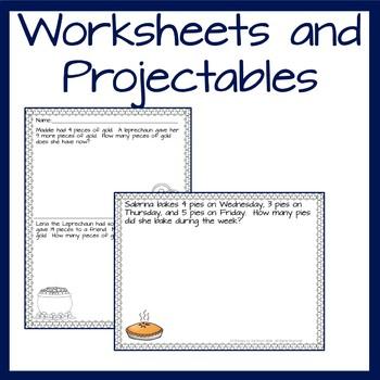 Kindergarten Wednesday Word Problems- March